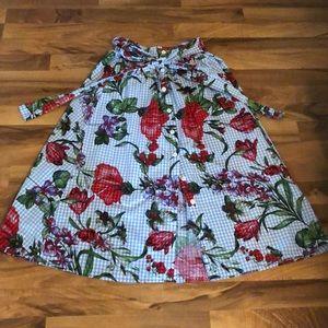 Zara ultra high waisted skirt